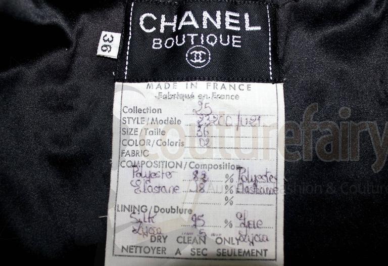Amazing Black Chanel Sequin Silk Evening Dress Coat Jacket 8