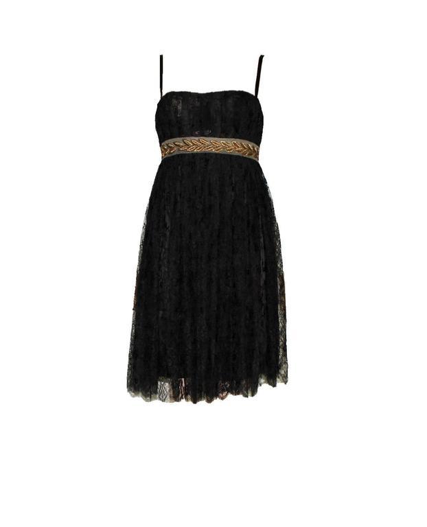Stunning Dolce & Gabbana Black French Lace Laurel Dress 3