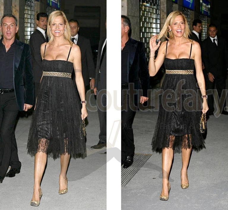 Stunning Dolce & Gabbana Black French Lace Laurel Dress 6