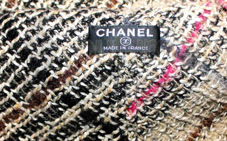 Brown Amazing Chanel Lesage Fringed Fantasy Tweed Hat For Sale