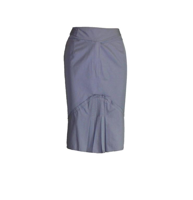 Stunning Yves Saint Laurent Skirt Suit Designed by Tom Ford for his collection for YSL  Spring / Summer 2003 Pleated Skirt Beautiful satin silk buttons and trimming Partially lined Made in France Dry Clean Only