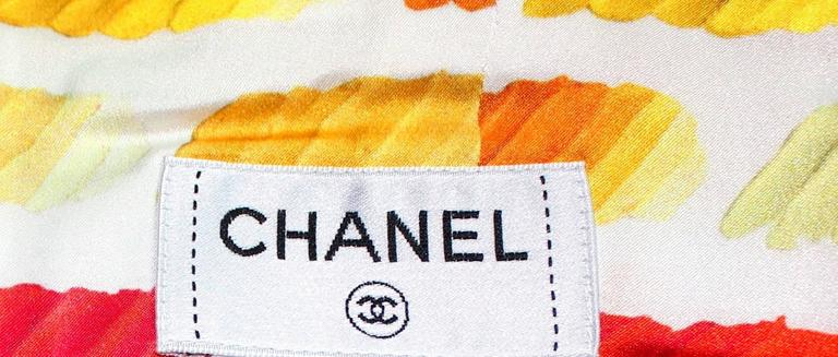 Famous Chanel Watercolors Corset Silk Ensemble Dress 6