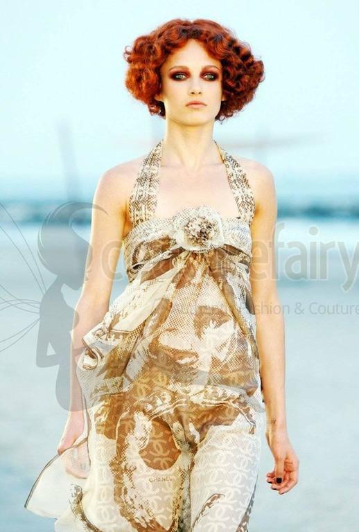 Gorgeous Chanel Silk Chiffon CC Logo Cocktail Dress with Camellia brooch 8