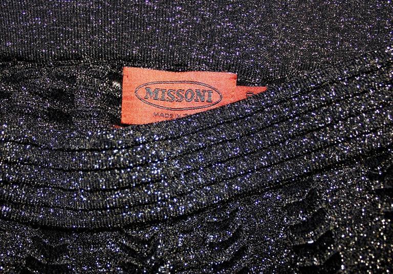 Women's Missoni Crochet Knit Lurex Palazzo Pants For Sale