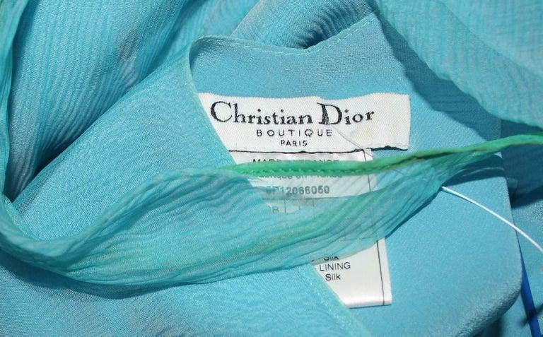 Beautiful Christian Dior by John Galliano Seafoam Silk Chiffon Dress  7