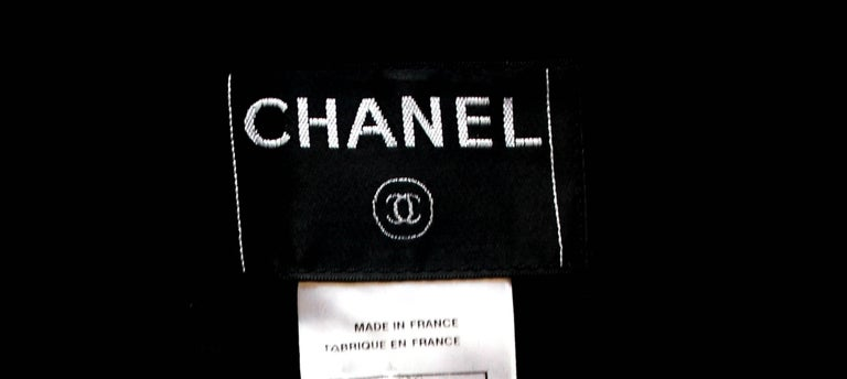 Chanel Black Boucle Overall Jumpsuit with Zipper For Sale 3