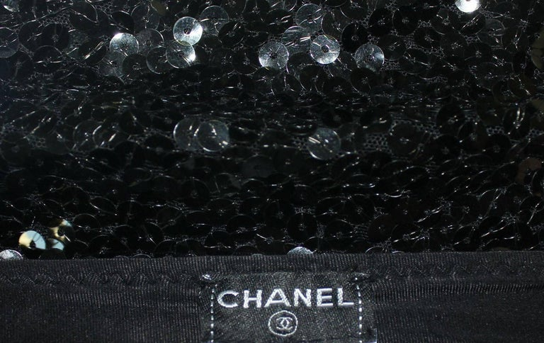 Women's Chanel Black Sequins Hot Pants Shorts For Sale