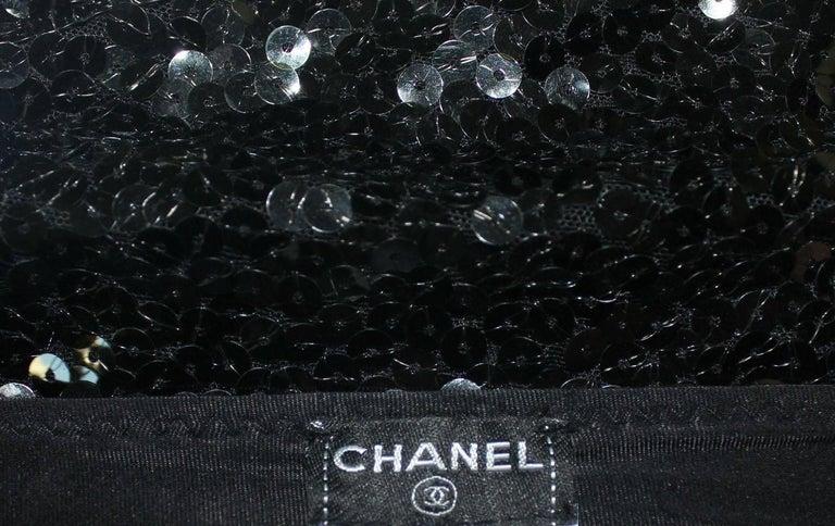Chanel Black Sequins Hot Pants Shorts 4