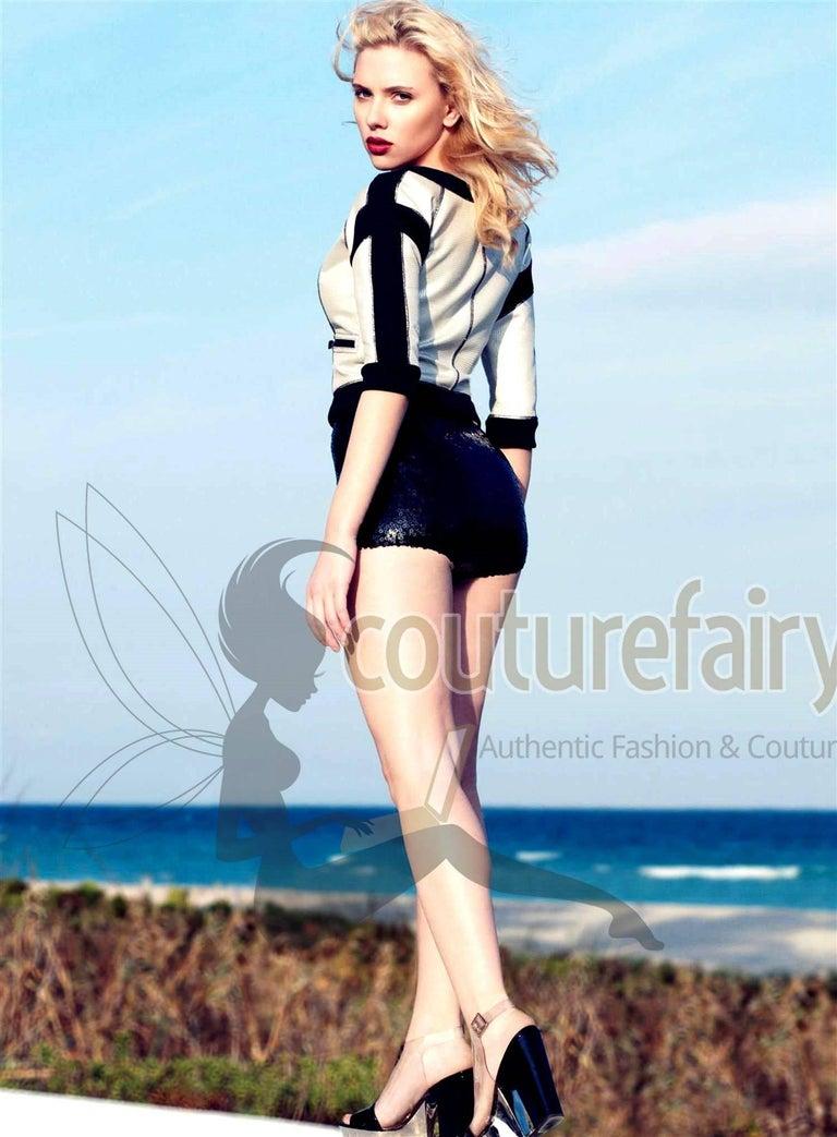 Chanel Black Sequins Hot Pants Shorts 7