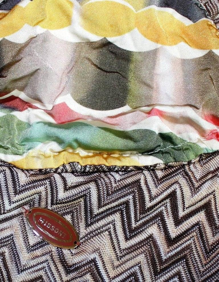Stunning Missoni Signature Chevron Crochet Knit Maxi Kaftan Dress Bikini Set For Sale 3
