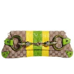 Gucci Tom Ford SS 2004 XL GG Monogram Jeweled Snake Head Bag