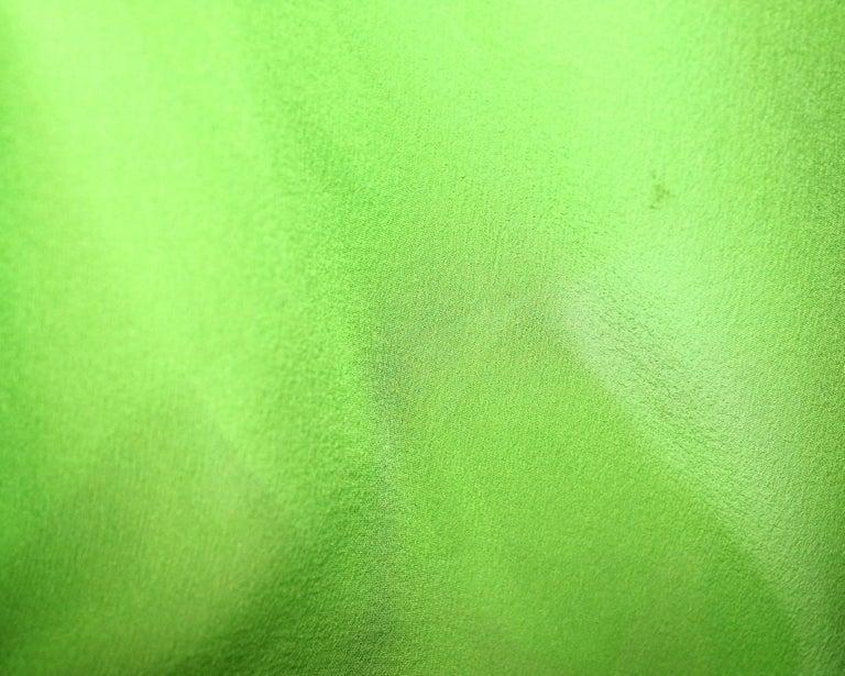 UNWORN Christian Dior by John Galliano Green Draped Silk Chiffon Dress Gown For Sale 2