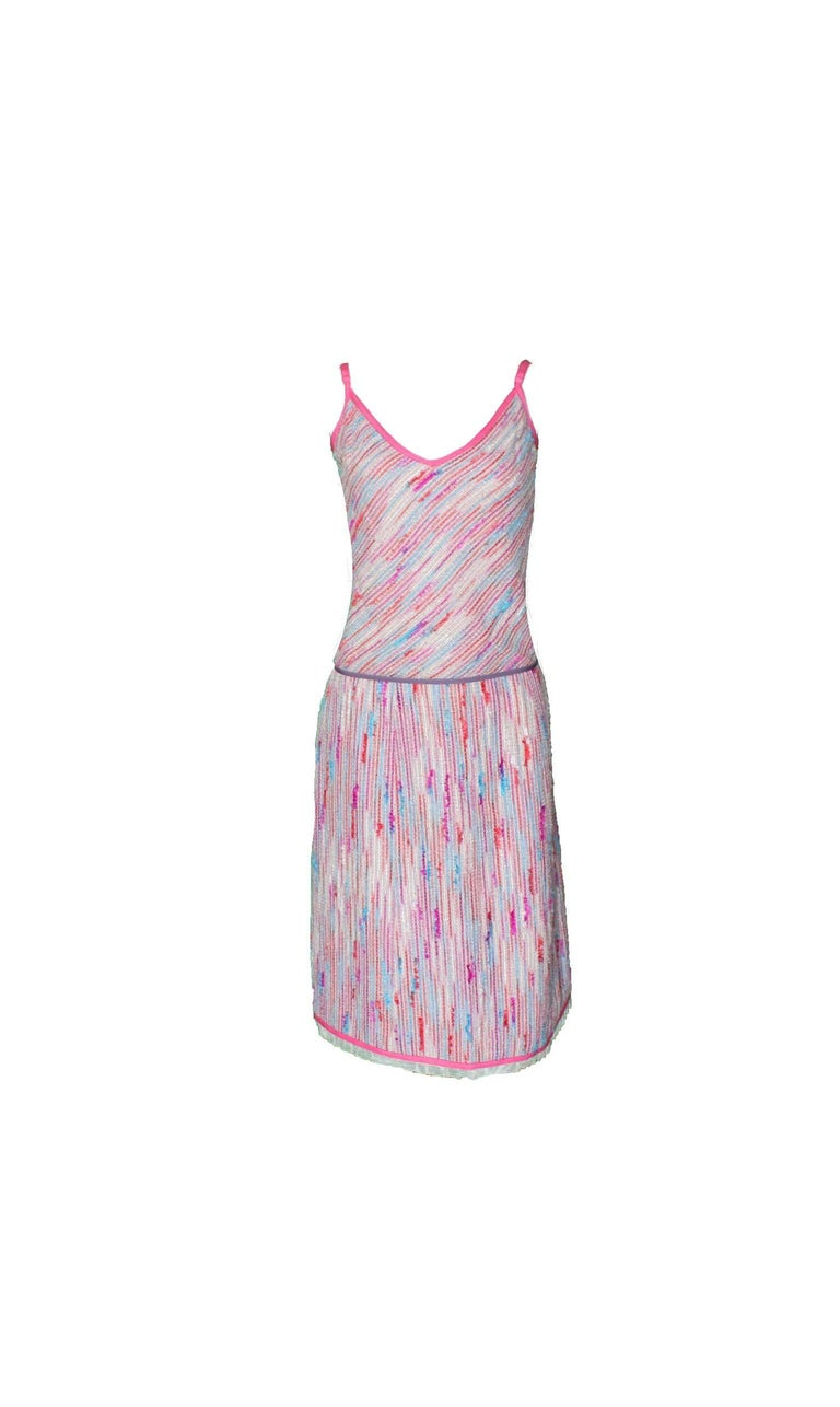 Beige Chanel 3 Piece Lesage Tweed Multicolor Top Skirt Jacket Suit Ensemble For Sale