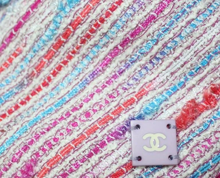 Women's Chanel 3 Piece Lesage Tweed Multicolor Top Skirt Jacket Suit Ensemble For Sale