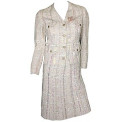 Stunning Chanel Maison Lesage Fantasy Tweed and Sequins Skirt Suit