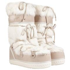 Brandnew Salvatore Ferragamo Moon Snow Winter Fur Boots