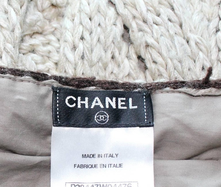 Amazing Chanel Signature Crochet Knit Dress with Chain Leather Details 7