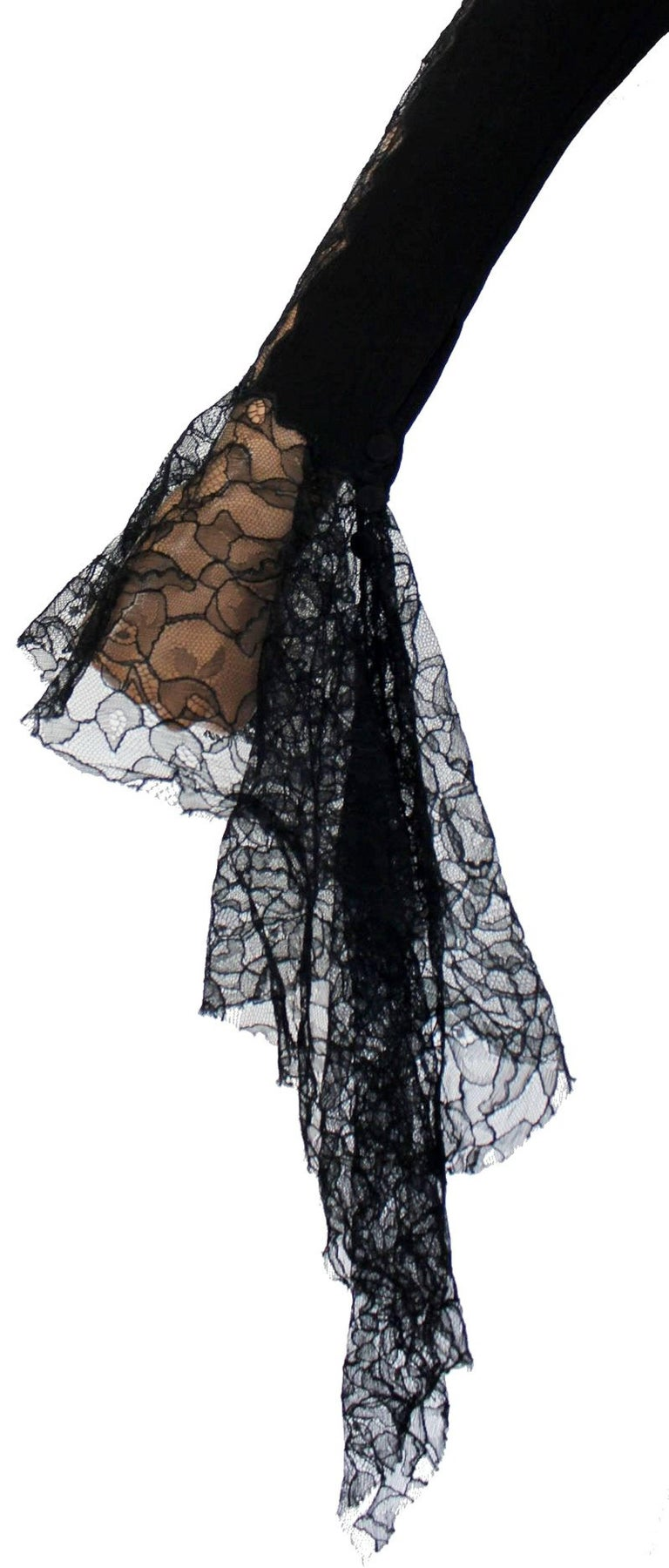 Breathtaking Gianni Versace Couture 1990s Black Silk & Lace Ensemble  5