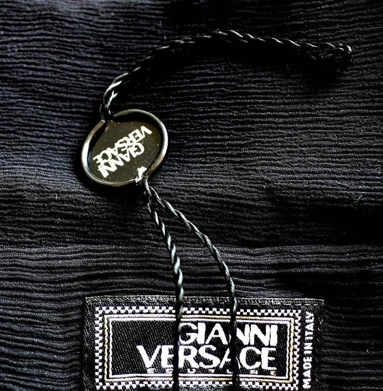 Breathtaking Gianni Versace Couture 1990s Black Silk & Lace Ensemble  6