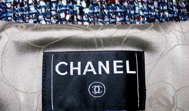 Chanel Metallic Multicolor Lesage Tweed Jacket Blazer For Sale 1