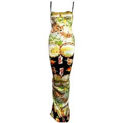 Dolce & Gabbana Taormina Sicily Print Corset Silk Gown Dress