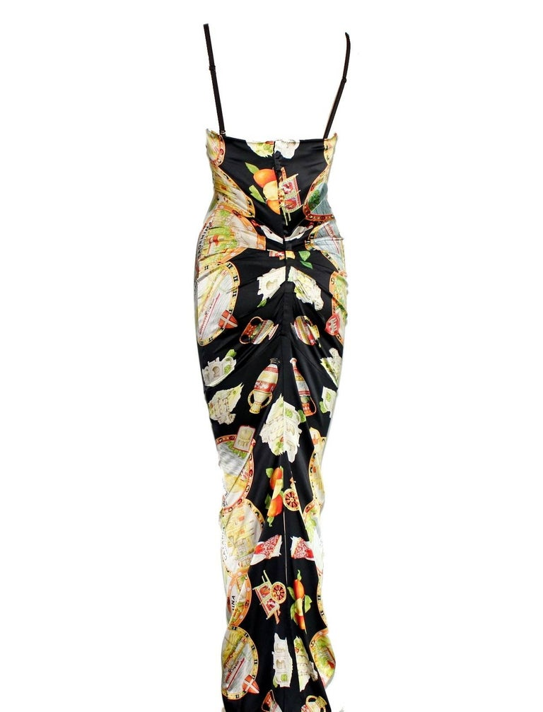 Breathtaking  Dolce & Gabbana  Sicily Print Corset Gown   Collector's Piece  Already Part Of Fit Museum's Collection    Details:     A Dolce & Gabbana  classic signature piece that will last you for years     From the famous 1998 collection