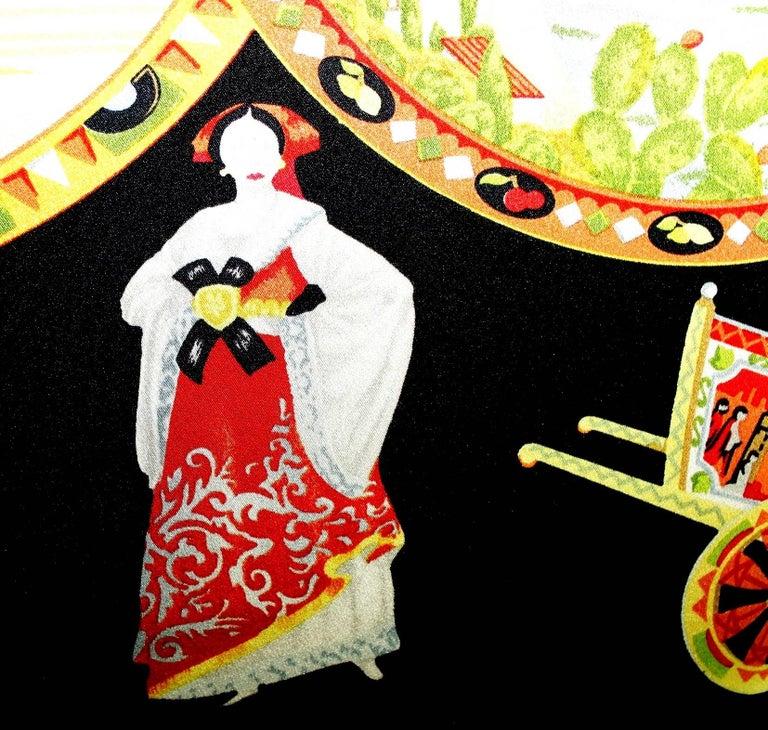 Dolce & Gabbana Taormina Sicily Print Corset Silk Gown Dress For Sale 2
