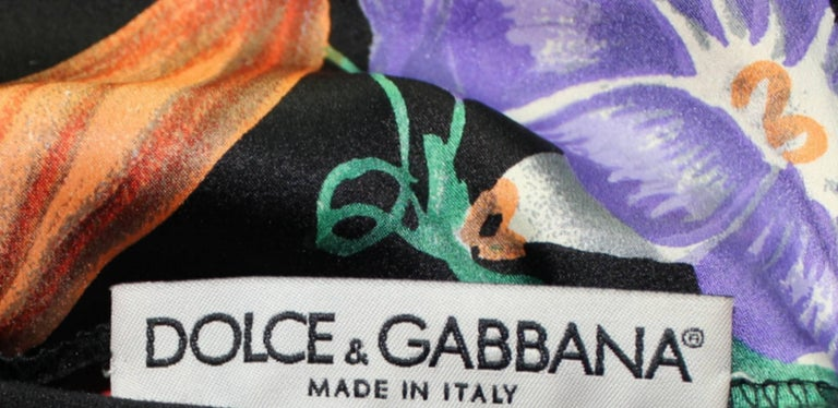 Carries SATC 1990s Dolce & Gabbana Hand-Painted Floral Corset Evening Dress Gown For Sale 3