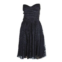 Dolce & Gabbana Strapless Black Corset Bustier Lace Dress