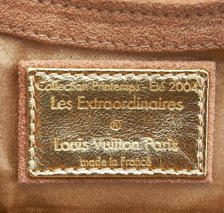 Rare Louis Vuitton Extraordinaire Suede Crystals Logo Purse Handbag For Sale 1