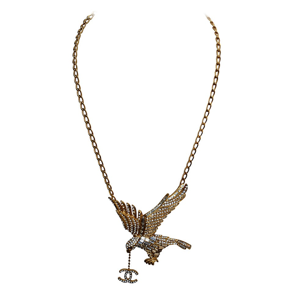 Chanel Eagle Necklace 2001 At 1stdibs. Eternal Bands. Baby Boy Gold Jewellery. Elephant Earrings. Silver Medallion. Diamond Eternity Band. Apatite Bracelet. Buy Gold Anklet. Low Price Wedding Rings