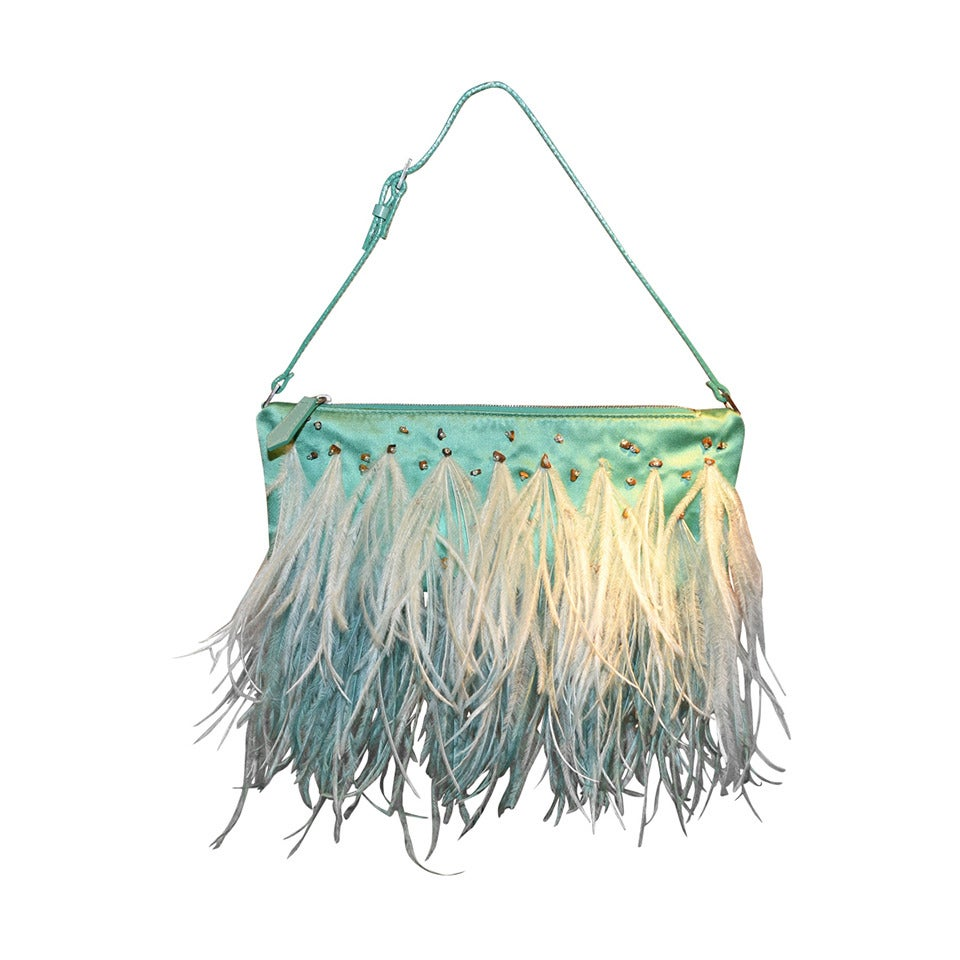 Valentino Garavani Ostrich Feather Evening Bag