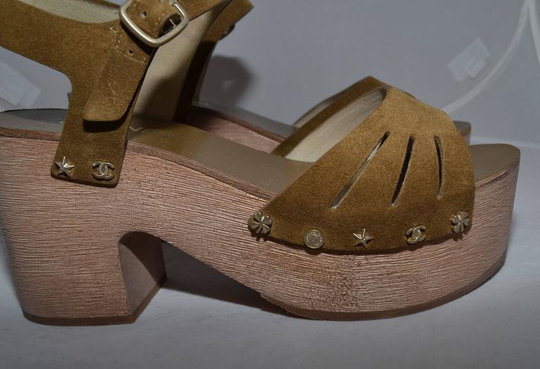 Chanel 2015 Spring Platform Sandals sz 40 5