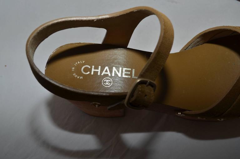 Chanel 2015 Spring Platform Sandals sz 40 6