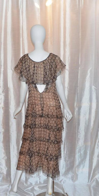 Women's or Men's Chanel Silk 4 Leaf Clover Chiffon Gown For Sale