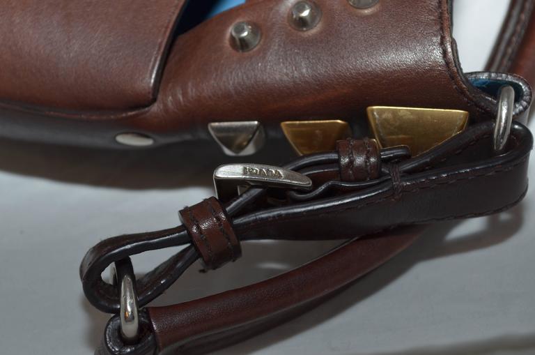 Prada Woven Leather Studded Cutout Mini Handbag 7