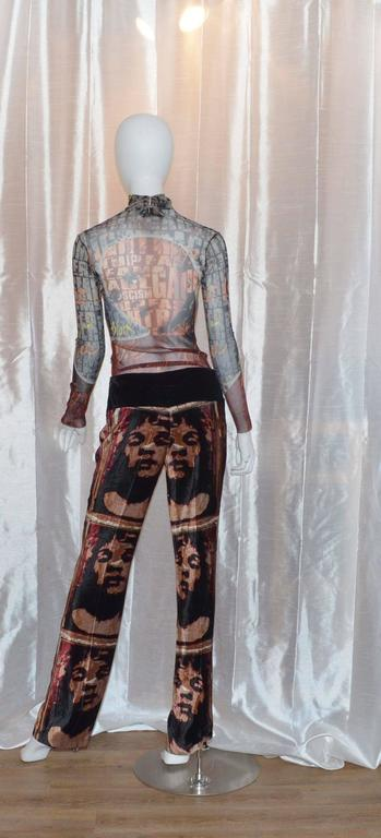Jean Paul Gaultier Autumn 1997 Print Top & Pants 4