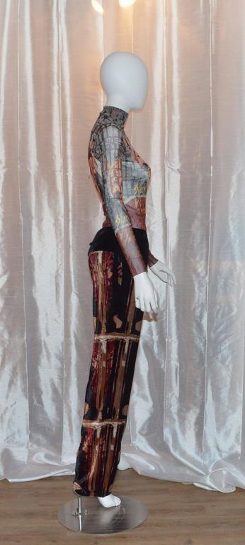 Jean Paul Gaultier Autumn 1997 Print Top & Pants 3