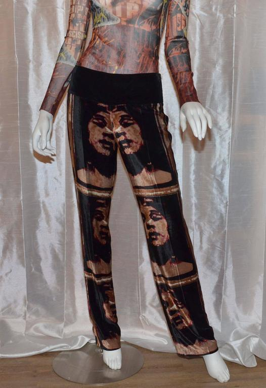 Jean Paul Gaultier Autumn 1997 Print Top & Pants 5