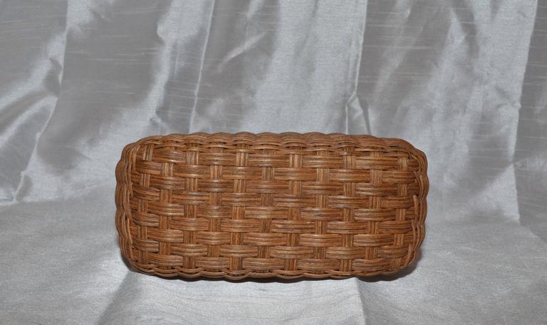 Salvatore Ferragamo Basket Weave Wicker Handbag In Excellent Condition For Sale In Carmel by the Sea, CA