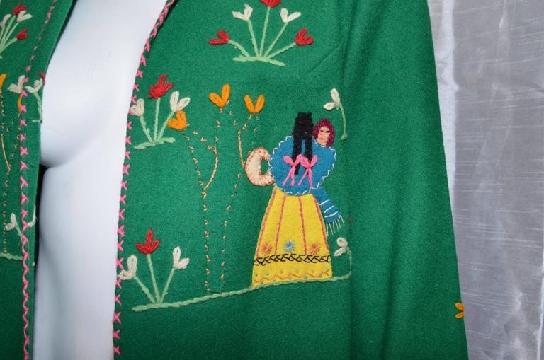 Vintage Mexican Tourist Felt Knit Jacket 5