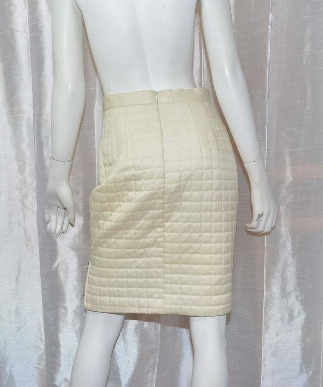 Chanel Satin Quilted Skirt 3