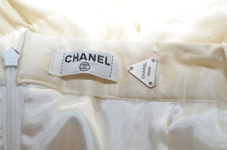 Chanel Satin Quilted Skirt 5