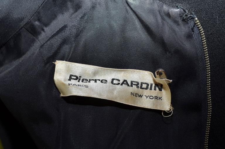Pierre Cardin Vintage 1968 Haute Couture Metal Bones Iconic Dress 4