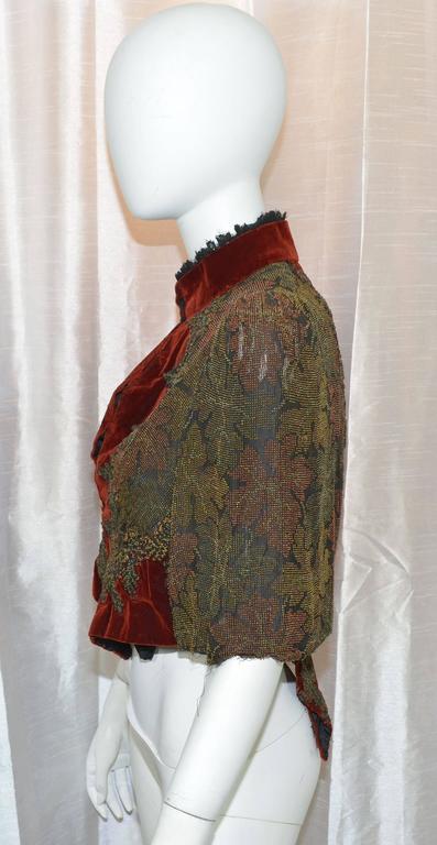 Victorian Sara Mayer A. Morhange & Cie 1880s Beaded Shawl From France 2