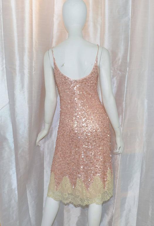Valentino Ss 2003 Sequin With Lace Trim Slip Dress At 1stdibs