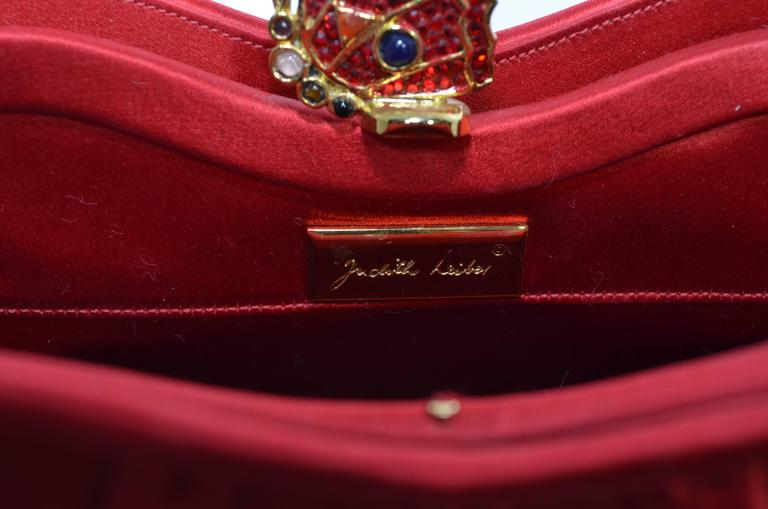 Judith Leiber Satin Clutch with Butterfly Closure 7
