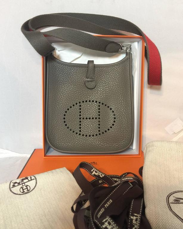 ... coupon code for gray hermes tpm mini evelyne bag in etain clemence for  sale d16ef de600 08607055d70bf