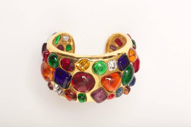 Substantial Chanel Gripoix Cuff Bracelet Collection 26 from 1988
