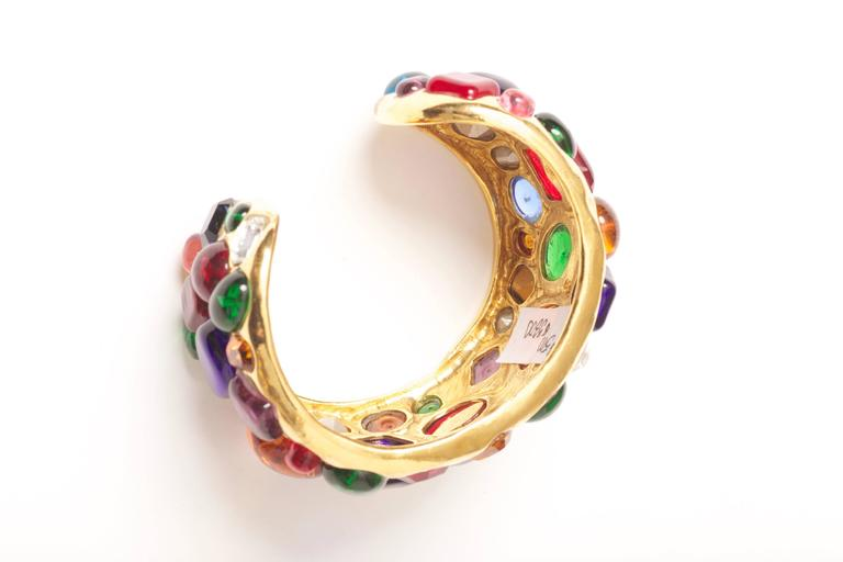 Chanel Gripoix Cuff Bracelet Vintage 1988 For Sale 3